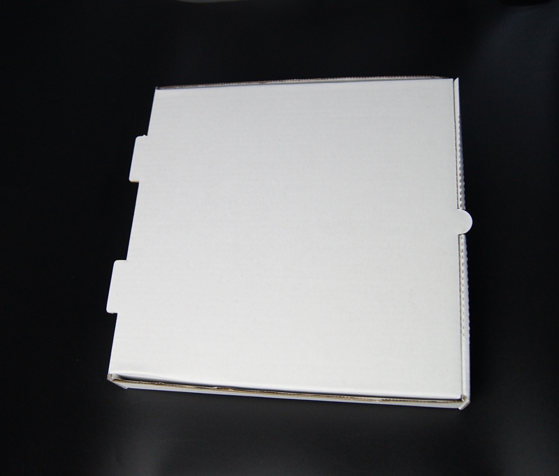 plain white kraft/white kraft pizza box