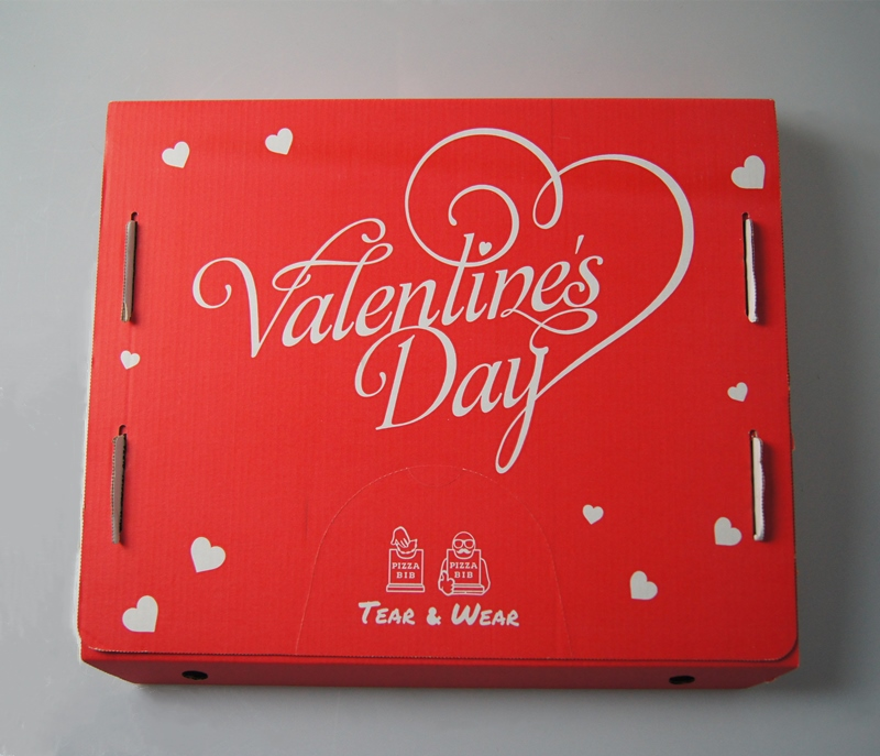 custom double side printing pizza box-002