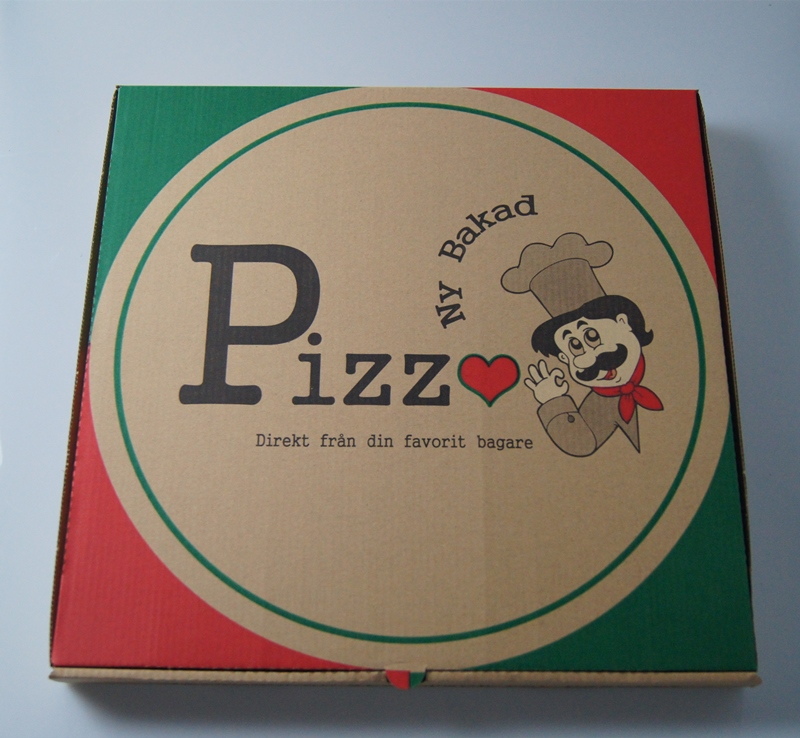 Swiss generic printing pizza box